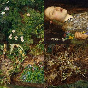 Details from Millais' Ophelia