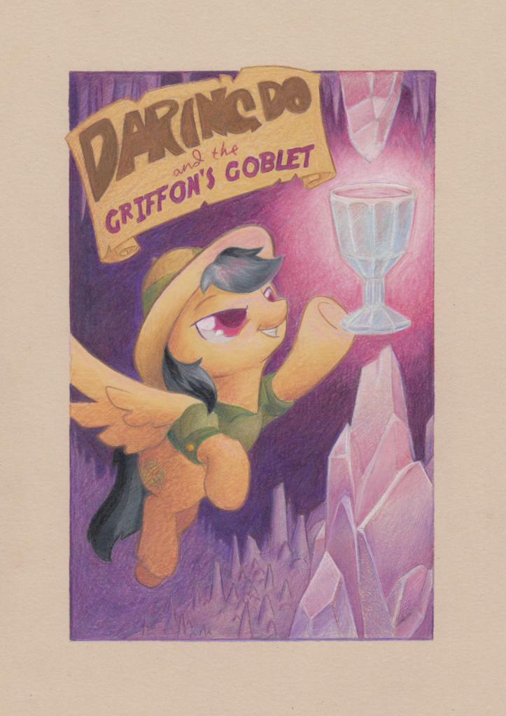 Illustration: Daring Do and the Griffon