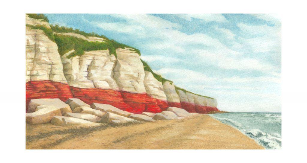 Illustration: View Along Hunstanton Beach