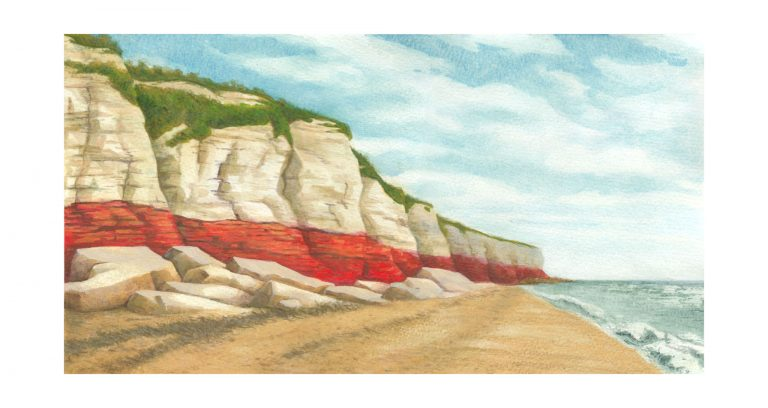 Illustration: View Along Hunstanton Beach
