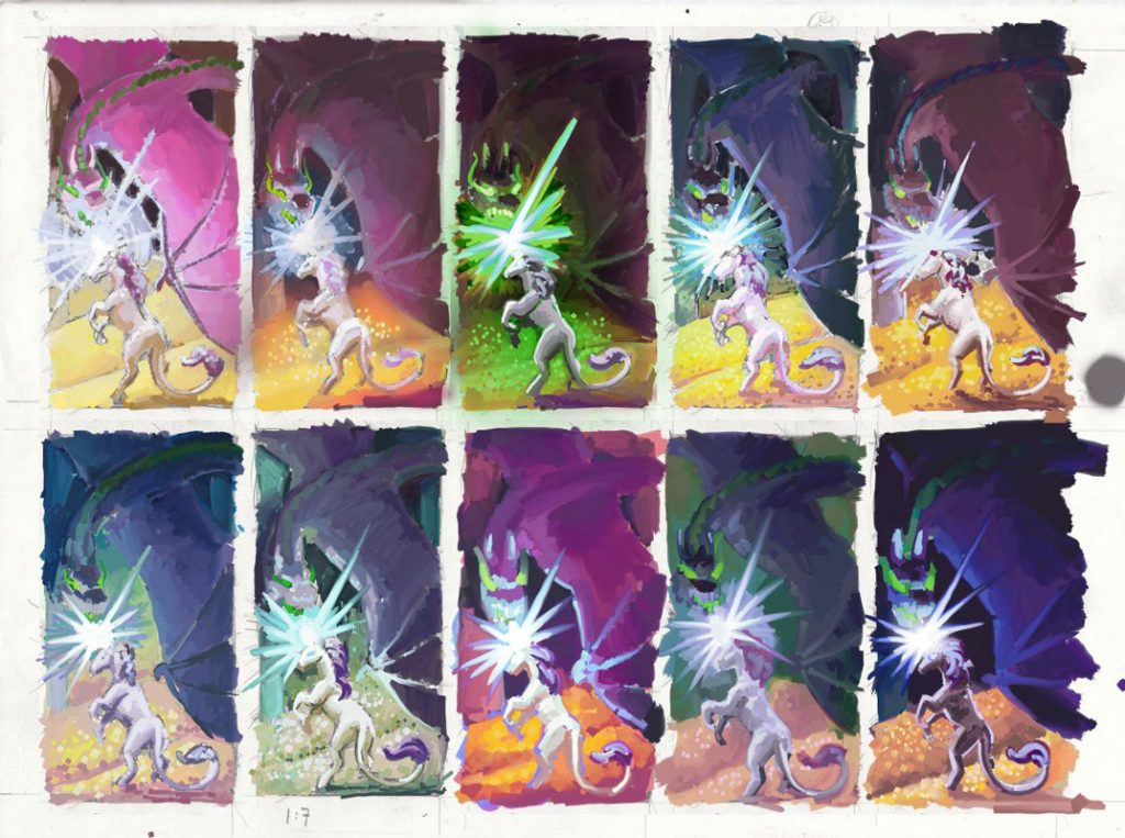 Colour thumbnails for the third version.